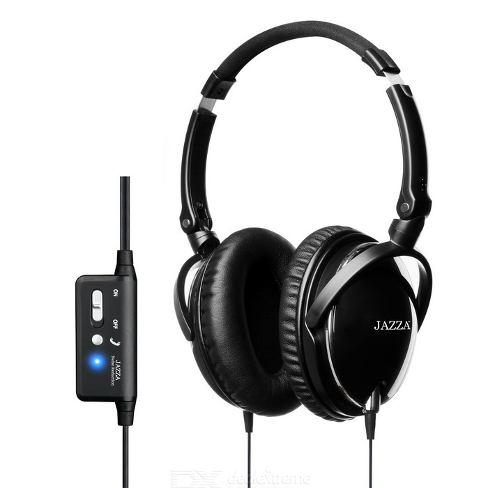 ANC-J1 Active Noise Cancelling Headband Headphone w/ Mic. - Black