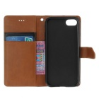 "PU Leather Wallet Cases w/ Stand for IPHONE 7 4.7"" - Brown + Black"