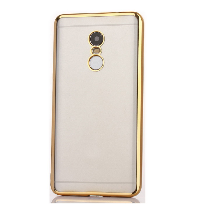 TPU Ultra Transparente Soft Case Edge para REDMI NOTE4 - Golden
