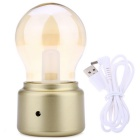 10W 5V LED bombilla lámpara USB Powered retro lámpara de mesa cálido blanco - oro