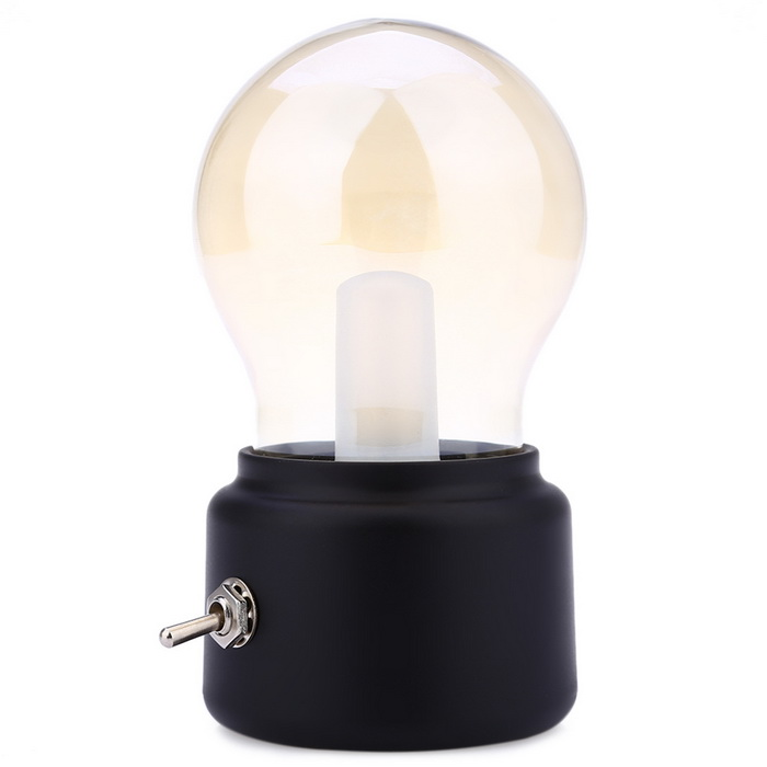 10W 5V LED Bulb Lamp USB Powered Retro Table Lamp Warm White - Black