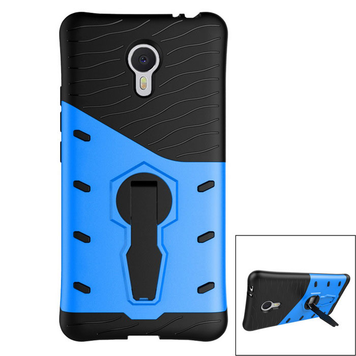 Protective TPU + PC Back Case w/ Holder Stand for Meizu M3 Note
