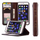Retro Vintage Wallet Flip PU Leather Phone Case for IPHONE 7 - Black
