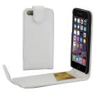 Top-Flip Open PU Leather Case w/ Card Slots for IPHONE 7 Plus - White