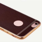 SZKINSTON High-end Plating Imitation Leather Back Case for iPhone 7