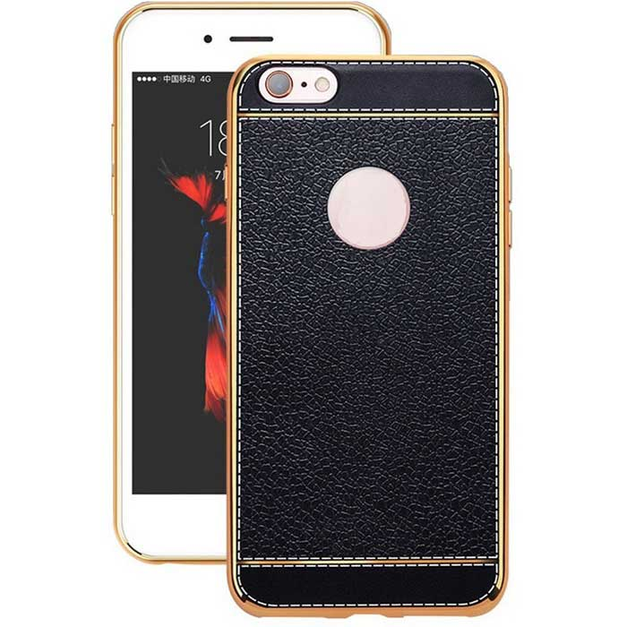 SZKINSTON Plating Imitation Leather Back Case for iPhone 7 / 8TPU Cases<br>Form  ColorBlackModelKST1609110Quantity1 DX.PCM.Model.AttributeModel.UnitMaterialTPUCompatible ModelsOthers,iPhone 7 / 8DesignMixed Color,Transparent,Graphic,Geometric Texture,Hollow-out,Lichee PatternStyleBack CasesPacking List1 * Case<br>