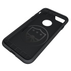 Protective PC Back Case for IPHONE 7 - Grey + Black
