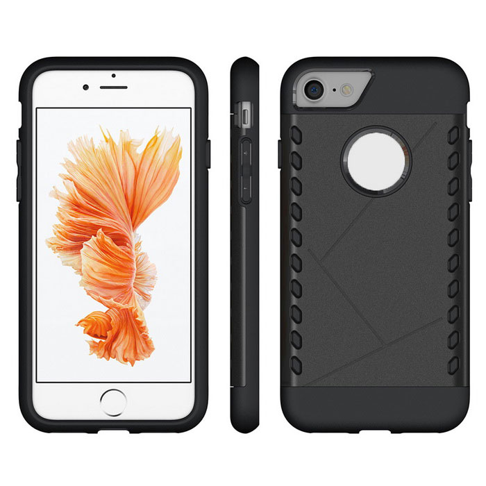 Funda protectora de PC de nuevo para IPHONE 7 - negro