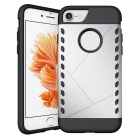 Protective PC Back Case for IPHONE 7 - Silver + Black