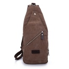 LOCAL LION 1321 Classic Fashion Canvas Chest Bag - Brown (6.5L)