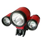 3-LED 4-Mode Neutral White LED Bike Light with Battery for Bicycle Electric Bicycle Electric Cars