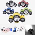 RD New Style 3-LED Water Resistant 4-Mode Neutral White LED Bike Light
