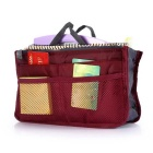 Buy Storage Bag / Organizer Double-zipper Cosmetic Pouch - Red