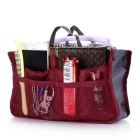Storage Bag / Organizer / Double-zipper Cosmetic Storage Pouch - Red