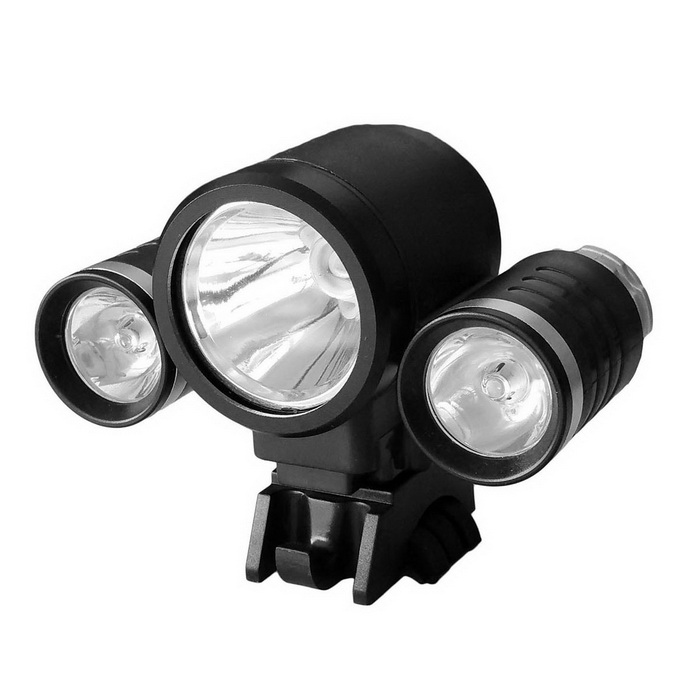 BK New Style 3-LED Water Resistant 4-Mode Neutral White LED Bike Light
