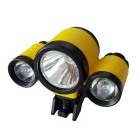 YL New Style 3-LED Water Resistant 4-Mode Neutral White LED Bike Light