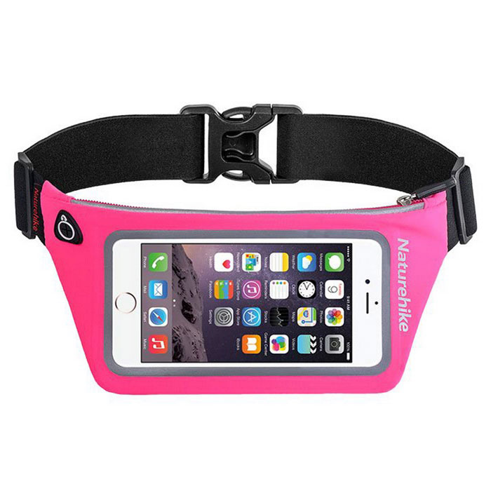 NatureHike Outdoor Sports Men Women Running Waist Bag - Deep Pink