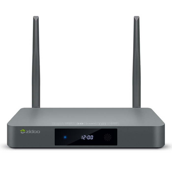 ZIDOO X9S Realtek RTD1295 Android 6.0 OpenWRT(NAS) TV BOX - GreySmart TV Players<br>Form  ColorAsh BlackBuilt-in Memory / RAM2GBStorage16GBPower AdapterUS PlugModelX9SQuantity1 DX.PCM.Model.AttributeModel.UnitMaterialAluminum alloyShade Of ColorGrayOperating SystemAndroid 6.0ChipsetRealtek RTD1295CPUOthers,Realtek RTD1295 ARM Cortex-A53 Quad-Core with floating-point unit and NEON SIMD engine embeddedProcessor Frequency2GHzGPUARM T820 MP3(3-core)Menu LanguageEnglish,French,German,Italian,Spanish,Portuguese,Russian,Vietnamese,Polish,Greek,Danish,Norwegian,Dutch,Arabic,Turkish,Japanese,Bahasa Indonesia,Korean,Thai,Maltese,Hungarian,Latin,Persian,Malay,Slovak,Czech,Greek,Romanian,Swedish,Finnish,Chinese Simplified,Chinese Traditional,Bulgarian,Norwegian,HebrewRAM/Memory TypeDDR3 SDRAMMax Extended Capacity32GBSupports Card TypeMicroSD (TF)External HDD2TBWi-FiIEEE 802.11a/b/g/n, 802.11AC,4.900 GHz ~ 5.845 GHz (5.0 GHz ISM Band) RTK8821 dual-band Wi-FiBluetooth VersionBluetooth V4.03G FunctionNoWireless Keyboard/Mouse2.4GHz/5GHzAudio FormatsMP3,WMA,APE,FLAC,OGG,AC3,DTS,AACVideo FormatsRM,RMVB,AVI,DIVX,MKV,MOV,HDMOV,MP4,M4V,PMP,AVC,FLV,VOB,MPG,DAT,MPEG,H.264,MPEG1,MPEG2,MPEG4,WMV,TP,CD,VCD,DVD,BD,H.265Audio CodecsDTS,AC3,LPCM,FLAC,HE-AACVideo CodecsMPEG-1,MPEG-2,MPEG-4,H.264,VC-1,H.265Picture FormatsJPEG,BMP,PNG,GIF,TIFF,jps(3D),mpo(3D)Subtitle FormatsMicroDVD [.sub],SubRip [.srt],Sub Station Alpha [.ssa],Sami [.smi]idx+subPGSOutput Resolution4KHDMIHDMI 2.0Audio OutputHDMI, S/SPDIF (2CH, 5.1CH)Video OutputHDMI,AVUSBUSB 2.0,USB 3.0Other Interface1 * USB3.0<br>2 * USB2.0<br>1 * TF card reader SD card interface . Support 1GB/2GB/4GB/8GB/16GB/32GB<br>1 * IR receiver<br>1 * Composite video and audio port (Cvbs output)<br>1 * S/SPDIF (2CH, 5.1CH)<br>1 * SATA3.0<br>1 * VFD displayPower Supply100~240VAPP Built-inKODI, NetflixCompatible ApplicationFacebook,Youtube,Skype,Netflix,XBMC,HuluFirmware Upgradewww.zidoo.tvCertificationCE, FCC, RoHSOther FeaturesSupport DLNA, Google TV Remote, LAN, 3D Moive, Email, Office suit etcPacking List1 * TV box1 * Remote control(Powered by 2 * AAA batteries, not included) 1 * HDMI cable (60cm)1 * Power adapter (110~240V  50cm )1 *  English user manual<br>
