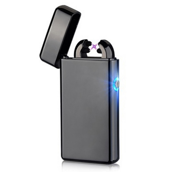 Maikou USB Charging Double Cross Arc Fire Lighter - BlackOther Lighters<br>Form  ColorBlack1MaterialMetalQuantity1 DX.PCM.Model.AttributeModel.UnitShade Of ColorBlackTypeUSBFlame ColorVioletFlame HeightNormalFlame TemperatureNormalWindproofYesPower Supply1Charging Time1~2 DX.PCM.Model.AttributeModel.UnitPacking List1 * Lighter1 * USB cable  20CM<br>
