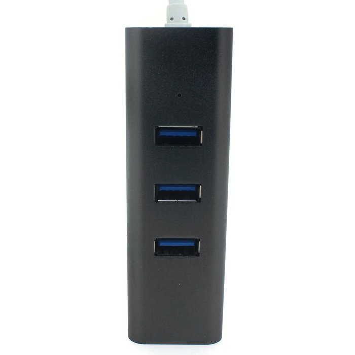 High Speed 1-to-3 USB 3.0 Hub Splitter -  Black