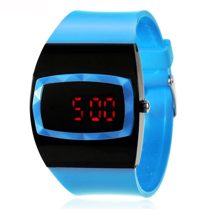 MAIKOU MK006 LED relógio digital de w / display data - azul claro