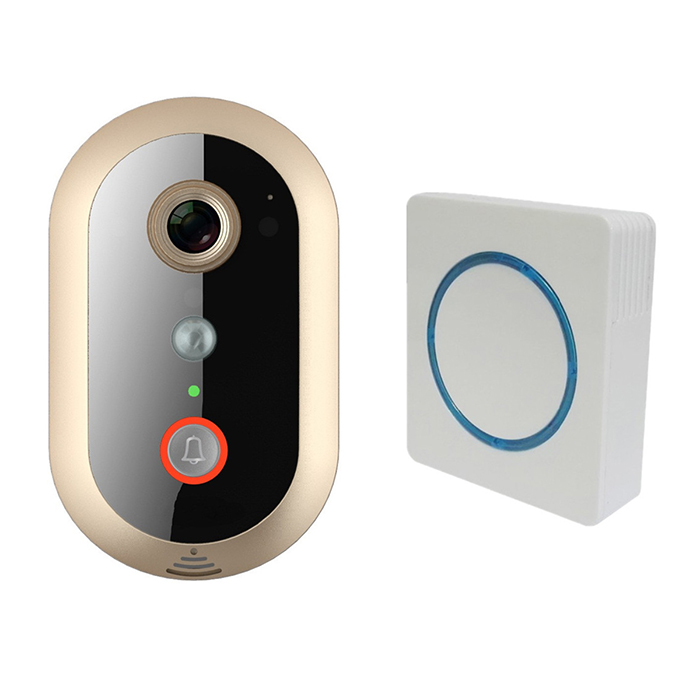WiFi Video Doorbell with HD 720P PIR Sensor 8G Memory Indoor Speaker