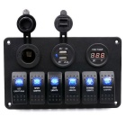 5PIN Switch Panel Modified USB Cigarette Lighter Socket / Voltmeter
