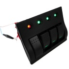 Marine Boat Waterproof Rocker Switch Panel RV4 GANG w/ LED indicator