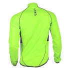 NUCKILY Outdoor Bicycle Riding Coat Raincoat - Fluorescent Green (XL)