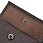 JINBAOLAI Folded Leather Wallet w/ Coin Pocket for Men - Dark Coffee