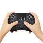 Mini 2.4G Wireless 92-Key Keyboard w/ Touchpad - Black (Backlit)