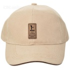 Unisex Outdoor Casual Cotton Sports Baseball Cap - Off-white