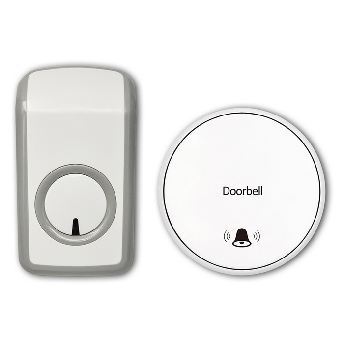 Battery-free Self-powered Wireless Remote Control Doorbell (UK Plug)