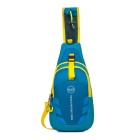 Qutdoor Multifunction Shoulder Bag Leisure Chest Bag - Blue+Yellow(7L)