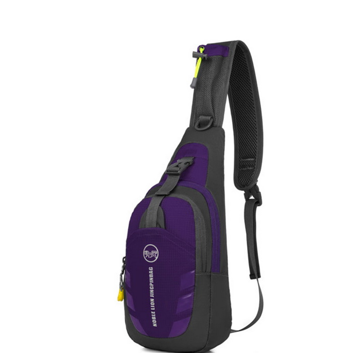 Qutdoor Multifunction Shoulder Bag Leisure Chest Bag - Purple (7L)