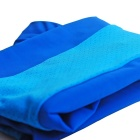 NUCKILY Sunproof Silk Seamless Cycling Arm Sleeves - Blue (Pair / L)
