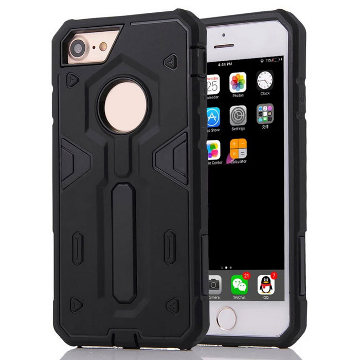 "Disassembly Protective PC + TPU Back Case for IPHONE 7 4.7"" - Black"