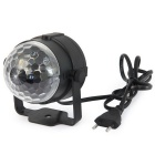 YWXLight 3W LED Stage Light RGB Projected Light - Black (EU Plug)
