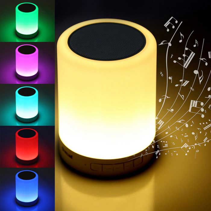 Jiawen Intelligent Bluetooth Music Player Dimmable Nightlight - WhiteSmart Lighting<br>Form  ColorWhiteMaterialPlasticQuantity1 DX.PCM.Model.AttributeModel.UnitPowerOthers,3.5WRated VoltageOthers,DC 5 DX.PCM.Model.AttributeModel.UnitConnector TypeOthers,USBColor BINRGBChip BrandCreeActual Lumens270~300 DX.PCM.Model.AttributeModel.UnitDimmableYesInstallation TypeOthers,flatOther FeaturesBluetooth 4.0, Dimming, energy-saving, long life expectancy and loudspeakerPacking List1 * Nightlight1 * USB Cable (45cm)1 * Audio line (45cm)1 * Chinese / English manual<br>