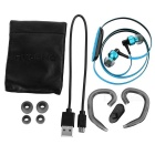 Ovleng NS8 Bluetooth Stereo Subwoofer Phone Headset - Black + Blue