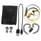 Ovleng NS8 Bluetooth Stereo Subwoofer Phone Headset - Black + Yellow