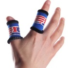 Sport elastisch stretchy fingerhülse brace support wrap band - blau