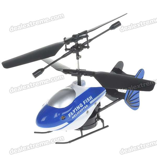 Mini Rechargeable 2-CH R/C Flying Fish Helicopter