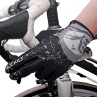 NUCKILY PD01 Breathable Polyester Full-Finger Gloves - Grey (Pair/XL)