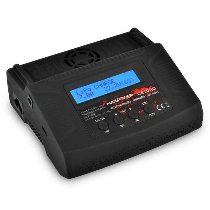 C610AC Charger Battery Cyclic Charging w/ LCD Voltage Current Display