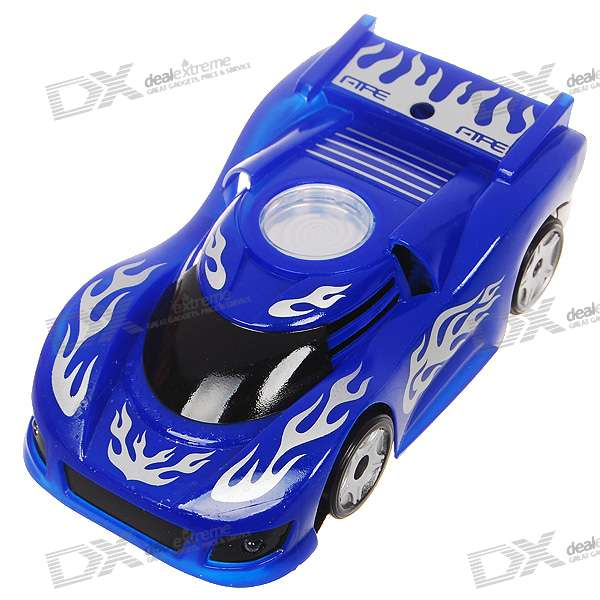 Mini Palm-Sized Rechargeable R/C Wall Climbing Race Car - Blue