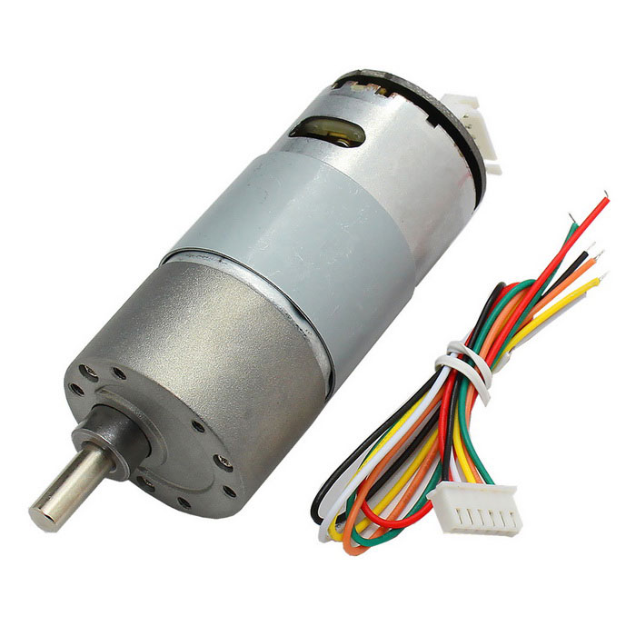 High Torque 37mm DC 12.0V 110rpm Encoder Precision Gear Motor