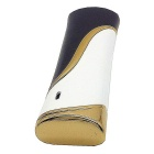 SHENYASHI Elegant Strip Inflatable Butane Jet Lighter - White + Black