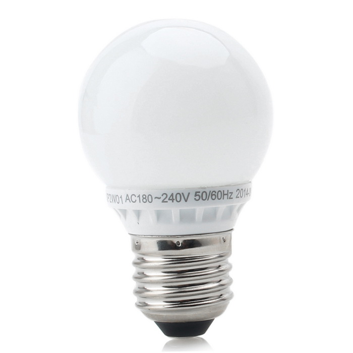 2W 200lm 5000K E27 6-5630 LED SMD Neutral White Light BulbE27<br>Color BINNeutral WhiteModelDP-2WMaterialPlastic + acrylicForm  ColorWhiteQuantity1 DX.PCM.Model.AttributeModel.UnitPower2WRated VoltageOthers,180~240 DX.PCM.Model.AttributeModel.UnitConnector TypeE27Chip BrandOthers,5630Chip Type5630Emitter TypeLEDTotal Emitters6Theoretical Lumens220 DX.PCM.Model.AttributeModel.UnitActual Lumens200 DX.PCM.Model.AttributeModel.UnitColor Temperature5000KDimmableNoBeam Angle360 DX.PCM.Model.AttributeModel.UnitPacking List1 * Light bulb<br>