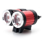 ZHISHUNJIA TXA2T6 USB 2-LED 1400lm 4-Mode Cold White Bike Light - Red